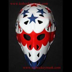 VINTAGE FIBERGLASS STREET ROLLER NHL ICE HOCKEY MASK GOALIE HELMET – Gary Smith HO29 we