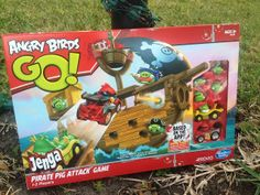 #AD Outnumbered 3 to 1: Angry Birds Go! Jenga Pirate Pig Attack Game + Giveaway