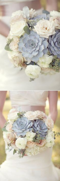 pink and grey neutral wedding bouquets ideas