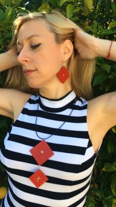 "Fyuse - ""Viva"" earrings and necklace. Earrings, Women, Fashion, Ear Rings, Moda, Women's, La Mode, Fasion, Fashion Models"