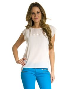 The Look for Less!  Chiffon short sleeve top with studs, Romeo & Juliet Couture, $108