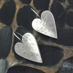 Cause a stir when you are wearing this brand new pair of large Danon Silver Heart Earrings from Lizzielane.com Was 29.50 Now Only £23.60 (Save 20%) http://www.lizzielane.com/product/danon-silver-large-heart-earrings/
