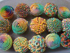 Psychadelic cupcakes!