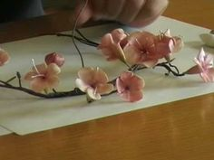 How to make gumpaste cherry blossoms-Sugar flowers Creations (+playlist)