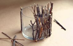 fall crafts...will have to try this, but with Cinnamon Sticks:)