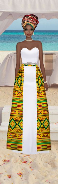ideas for fashion african traditional ghana African Attire, African Wear, African Women, African Dress, African Style, Ankara Styles For Women, Kente Styles, Party Fashion, Cute Fashion