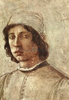 Filippino Lippi ( Italian Renaissance painter), self-portrait I've bought a copy a long time ago in a second-hand street market :) Renaissance Kunst, Renaissance Portraits, Renaissance Paintings, Oil Painting Reproductions, Italian Artist, Fresco, Art Images, Painting & Drawing, Art Drawings
