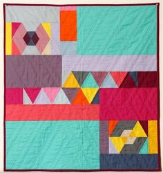 Modern quilters think outside the box with bold, bright colors.