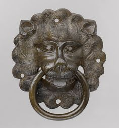 Copper Lion Mask Door Pull, Nuremberg, c. 1425 - 1450
