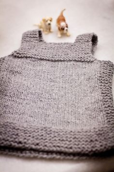 in the round version of Pebble knitting pattern, baby vest