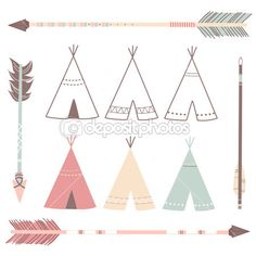 Teepee pattern. Use the printable outline for crafts, creating ...