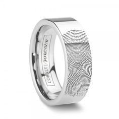 A truly one of a kind gift. Your actual fingerprint on his ring! Customizable Fingerprint Ring - Vday Gifts for Him.