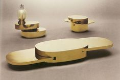 """In the early seventies, Gabriella Crespi starts creating the famous series of """"Plurimi"""", 'metamorphic' pieces of furniture, """"Cubo Magico"""", """"Tavolo """"Puzzle Table"""". Table Furniture, Furniture Design, Luxury Furniture, Baroque, Puzzle Table, Table Design, Decoration, Cool Designs, How To Memorize Things"""