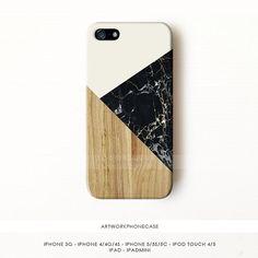 Marbre noir iPhone 5 s cas marbre iPhone par artworkphonecase