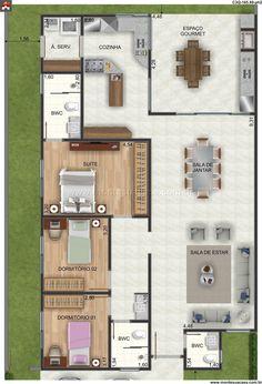 Casa - 3 Quartos - 165.89m² - Monte Sua Casa