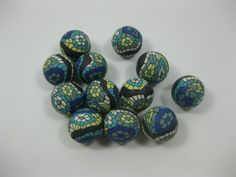 14mm Round Polymer Clay Beads