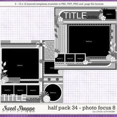 Cindy's Layered Templates - Half Pack Photo Focus 8 by Cindy Schneider