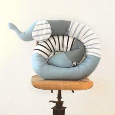 3.Baby boy elephant bumper pillow in Blue