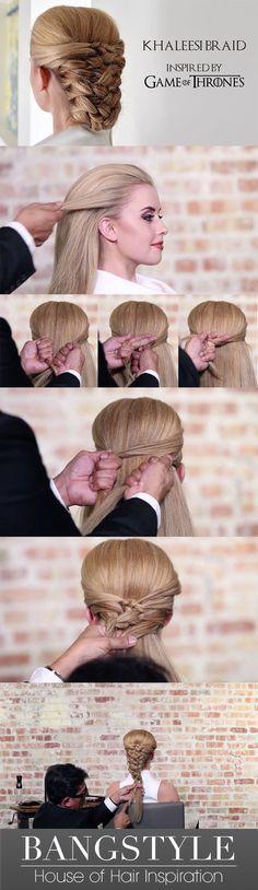 Game of Thrones Khaleesi braid tutorial