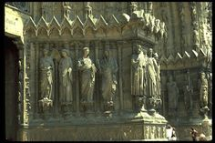 Scale The visitation. Reims cathedral. West portal. Rayonnant/ mid gothic period.
