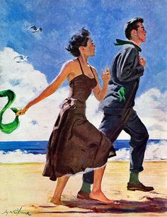 Artist Coby Whitmore. A walk on the beach.