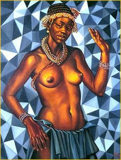 «Rapariga Mulata», Pintor Angolano Neves e Sousa