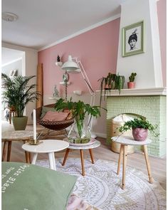 15 tinten roze voor op je muur - Makeover.nl Wall Colors, My Dream Home, Home Office, Sweet Home, Loft, House Styles, Interior, Plants, My Dream House