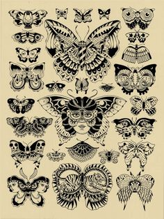 Butterfly tatuaggi old school