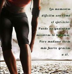 """""""El ejercicios puede no gustarnos mientras lo hacemos, pero nos hace mas fuertes"""" #ejercicio  #myvivri #motivacion #quotes #motivation #exercise"""