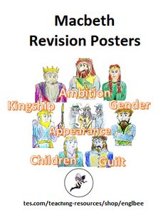 EIGHT REVISION POSTERS for those studying Macbeth at GCSE. Suitable for those aiming for grades Each poster contains an original hand-drawn illustrati. Macbeth Poster, Gcse English Literature, Tragic Hero, English Grammar, Shakespeare, Booklet, Teaching Resources, Quotations, How To Draw Hands