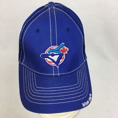 Toronto Blue Jays Fitted hat cap Size Small Medium NEW ERA MLB Baseball Cap  VTG e02da28d7ad2