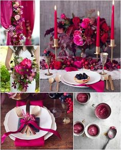 Be bold with a gorgeous red and berry wedding!