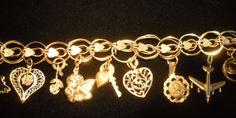 "Vintage 14K GOLD 8"" BRACELET WITH 11 CHARMS (1 CHARM- 18K) 25.9 GRAM NO SCRAP"