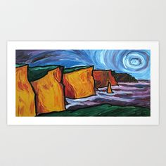 The Cliffs of Moher Art Print by AnnieSwarmArt - $18.00 Cliffs Of Moher, Annie, Original Paintings, Art Prints, Artist, Artwork, Beautiful, Art Impressions, Work Of Art