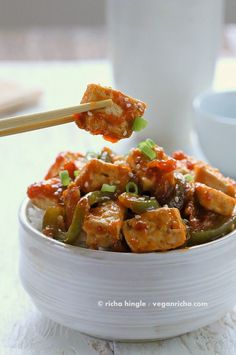 Vegan Orange Tofu and Peppers