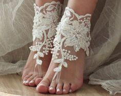 Elfenbein Strand Hochzeit Elfenbein barfuss von LadyVIVIENN auf Etsy