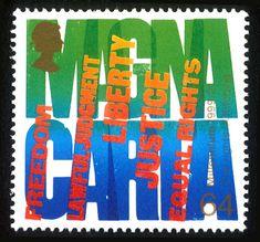 Magna Carta Stamp by Alan Kitching