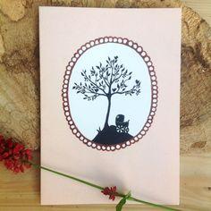 Geboortekaartje 'Onder de kersenboom' | stokwolf.nl