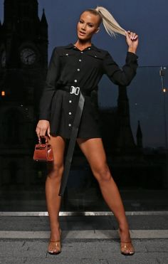 Get your look on lock this season and slay utility dressing in the Black Utility Seatbelt Mini Shirt Dress. Featuring a button up design in an on trend utility style with a seatbelt style belt, we're obsessed with this mini shirt dress. Mini Shirt Dress, Long Sleeve Shirt Dress, Long Sleeve Shirts, Oversized Long Sleeve Shirt, Cropped Sweater, Check Pinafore Dress, One Shoulder Jumpsuit, Loungewear Set, Lounge Wear