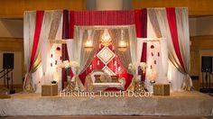 Pakistani Wedding Stage, Industrial Wedding Venues, Mehndi Decor, Wedding Stage Decorations, Wedding Receptions, Holiday Decor, Christmas Decorations, Backdrops, Diwali