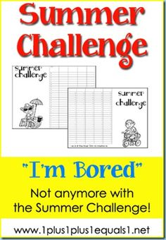 Summer Challenge...ideas to keep kids challenged free from boredom this summer!