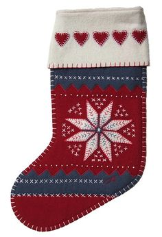 Jan Constantine Red Star Christmas Stocking | Christmas | AlexandAlexa