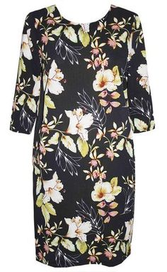 Holly Black Floral Dress