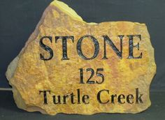 Texas Moss Rock Gallery - Custom Engraved Stone and Rock - Next In Stone
