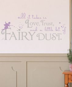 Take a look at this Lilac & Light Gray Fairy Dust Wall Decal by Sissy Little on #zulily today!