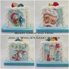 Vintage styled Christmas cake
