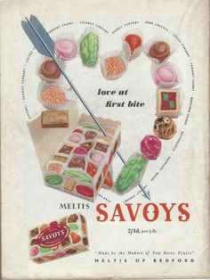 advert from Photo Play magazine Retro Candy, Vintage Candy, 1950s Ads, Marzipan, Fondant, Caramel, Berries, Coconut, Kid