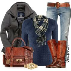 Keep the jeans and watch, but I'll take the boots, bag, coat, sweater, and scarf, thank you very much!