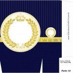Sacolinha Surpresa Coroa Príncipe Azul Marinho - A4 parte 1