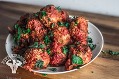 High protein, low fat meatballs without simple carbs.  Italian Turkey Quinoa Meatballs
